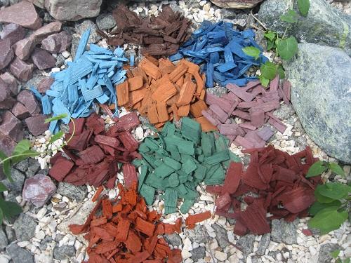 Цветная декоративная щепа