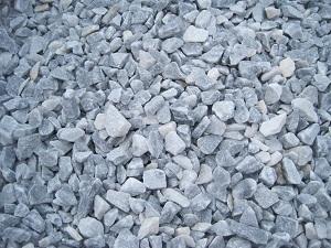 Серо-голубой мраморный щебень, фракция 10-20 мм